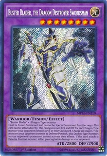 [ UK ] Buster Blader, the Dragon Destroyer Swordsman - MP16-EN210 - Secret Rare 1st Edition