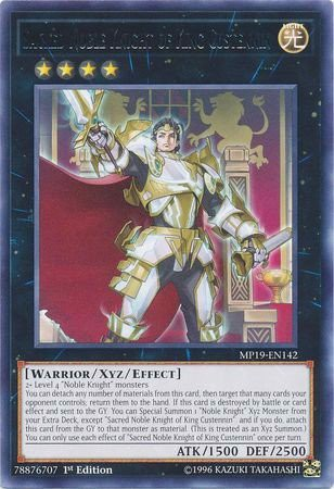 [ UK ] Sacred Noble Knight of King Custennin - MP19-EN142 - Rare 1st Edition