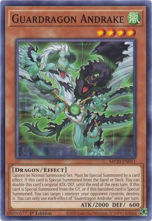 [ UK ] Guardragon Andrake - MP20-EN011 - Common 1st Edition