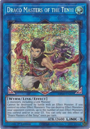[ US ] Draco Masters of the Tenyi - MP20-EN205 - Prismatic Secret Rare 1st Edition