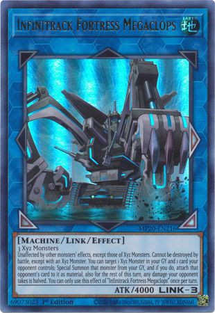 [ US ] Infinitrack Fortress Megaclops - MP20-EN216 - Ultra Rare 1st Edition