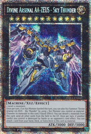 [ UK ] Divine Arsenal AA-ZEUS - Sky Thunder - PHRA-EN045 - Starlight Rare 1st Edition