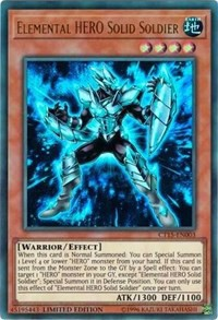 [ UK ] Elemental HERO Solid Soldier - CT15-EN003 - Ultra Rare 1st Edition