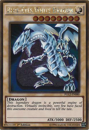 Blue-Eyes White Dragon - PGL2-EN080 - Gold Rare 1st Edition