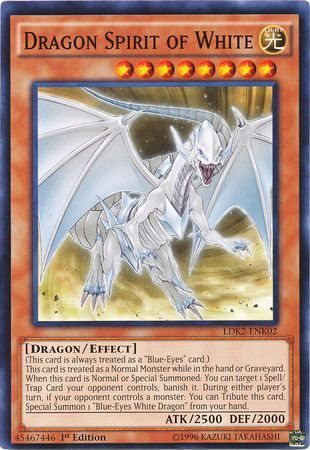 [ US ] Dragon Spirit of White - LDK2-ENK02 - Common 1st Edition