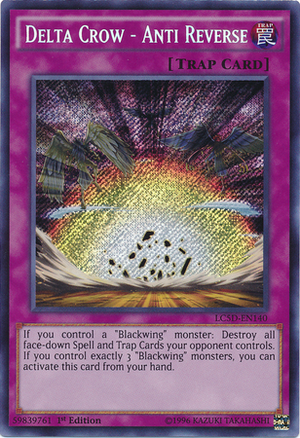 [ US ] Delta Crow - Anti Reverse - LC5D-EN140 - Secret Rare 1st Edition