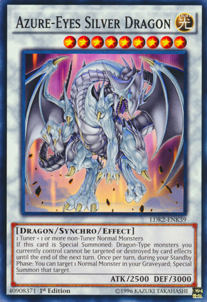 [ US ] Azure-Eyes Silver Dragon - LDK2-ENK39 - Common 1st Edition