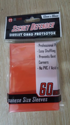 Card Sleeve Secret Defender GG [Orange] bọc bài màu da cam