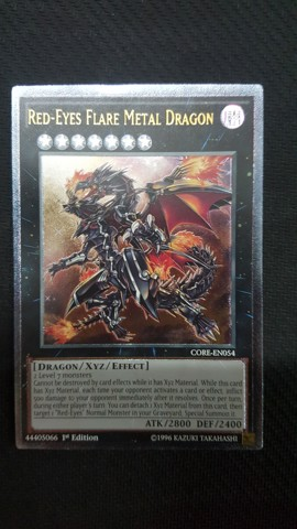 [ UK ] Red-Eyes Flare Metal Dragon CORE-EN054 Ultimate Rare 1st edition