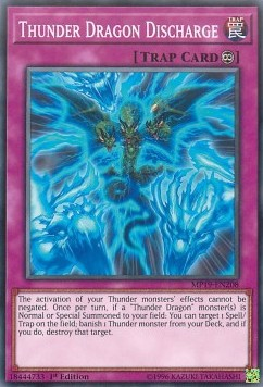 [ UK ] Thunder Dragon Discharge - MP19-EN208 - Common 1st Edition