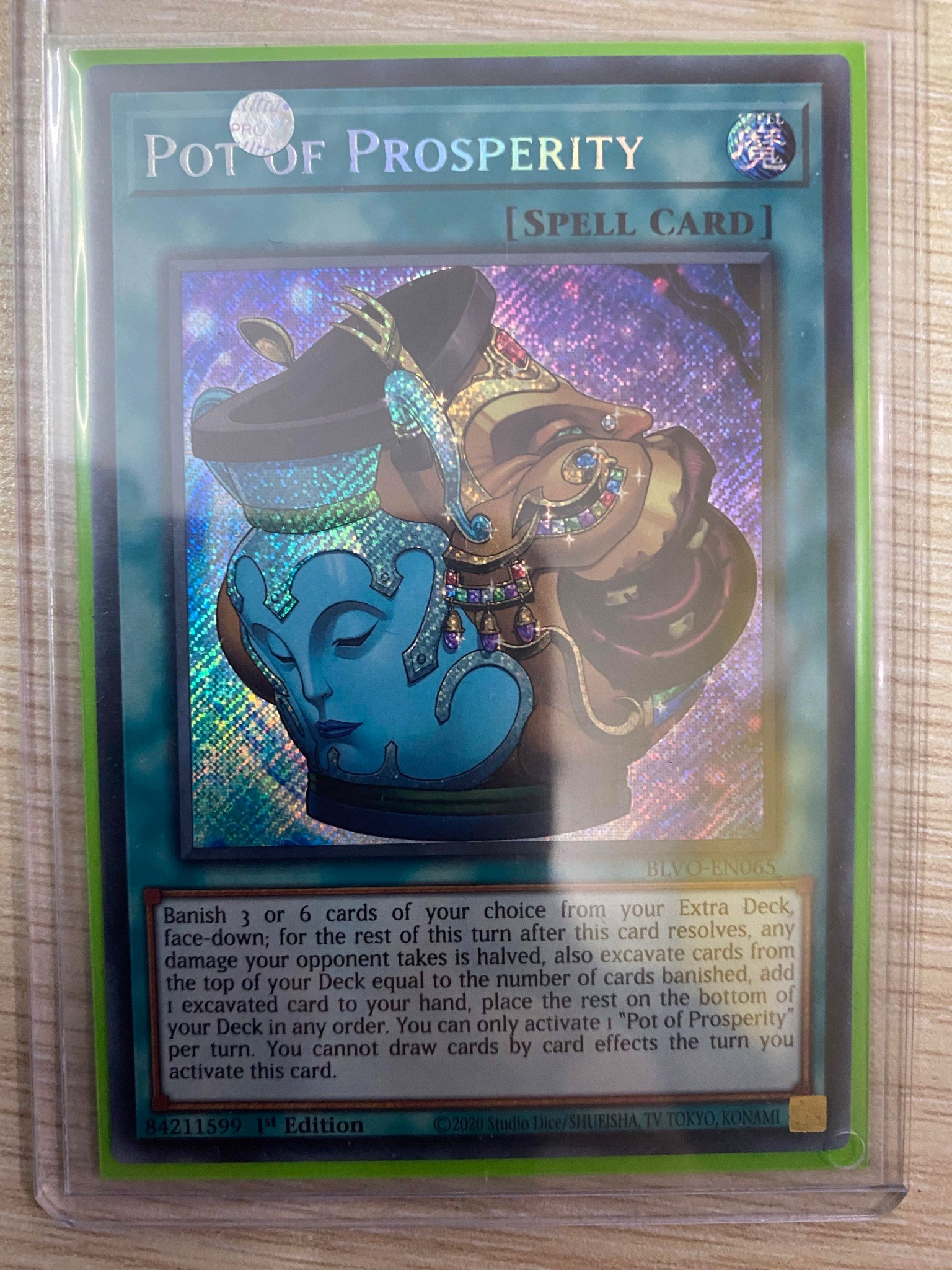 [ UK ] Pot of Prosperity - BLVO-EN065 - Secret Rare 1st Edition