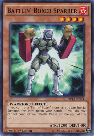 [ US ] Battlin' Boxer Sparrer - MP14-EN004 - Common 1st Edition