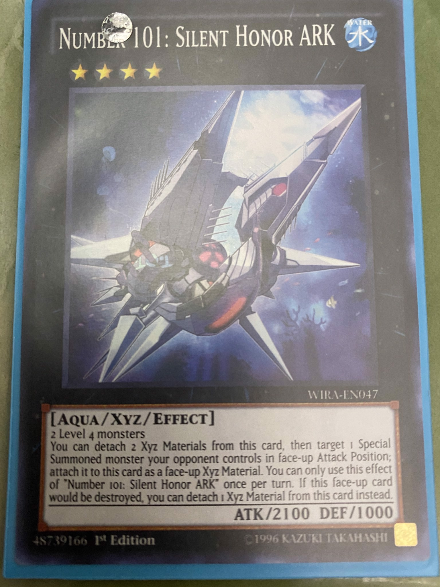 [ US ] Number 101: Silent Honor ARK - WIRA-EN047 - Super Rare 1st Edition
