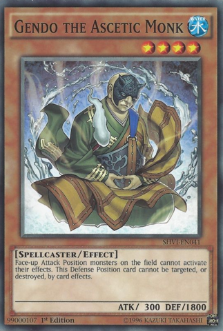 [ UK ] Gendo the Ascetic Monk - SHVI-EN041 - Common - 1st Edition