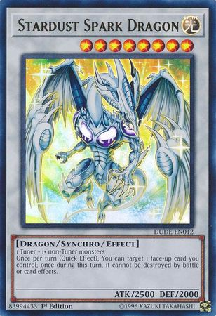 [ UK ] Stardust Spark Dragon - DUDE-EN012 - Ultra Rare 1st Edition