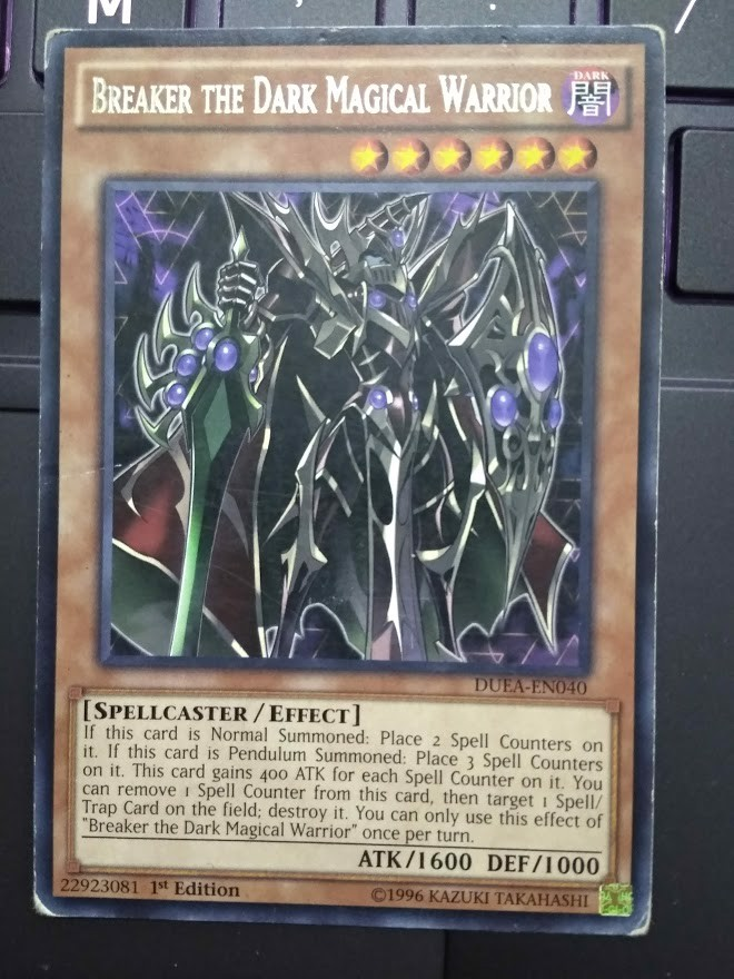 [ US ] Breaker the Dark Magical Warrior - DUEA-EN040 - Rare 1st Edition