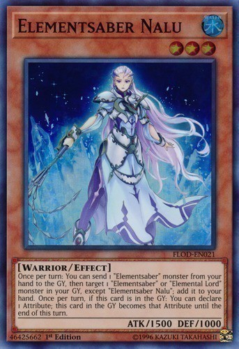 [ UK ] Elementsaber Nalu - FLOD-EN021 - Super Rare 1st Edition