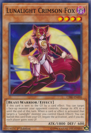 [ UK ] Lunalight Crimson Fox - CIBR-EN090 - Common 1st Edition
