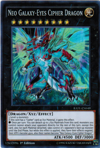 [ UK ] Neo Galaxy-Eyes Cipher Dragon - RATE-EN049 - Super Rare - 1st Edition