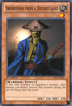 [ UK ] Swordsman from a Distant Land - LVAL-EN091 - Common 1st Edition
