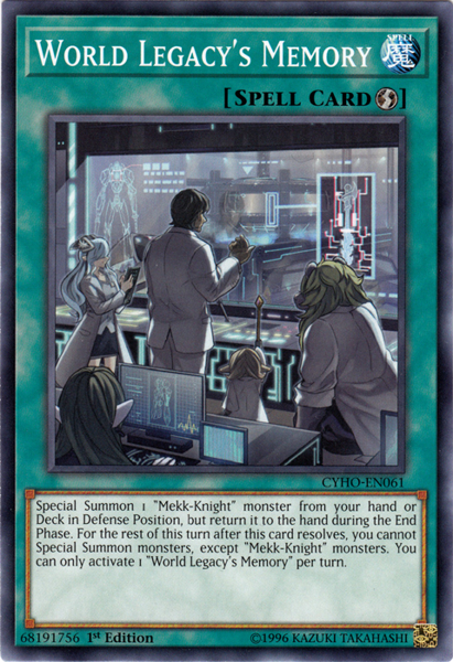 [ UK ] World Legacy's Memory - CYHO-EN061 - Common