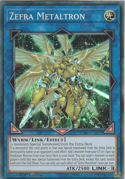 [ US ] Zefra Metaltron - EXFO-EN097 - Super Rare - 1st Edition