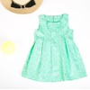 Cotton dress with front bow