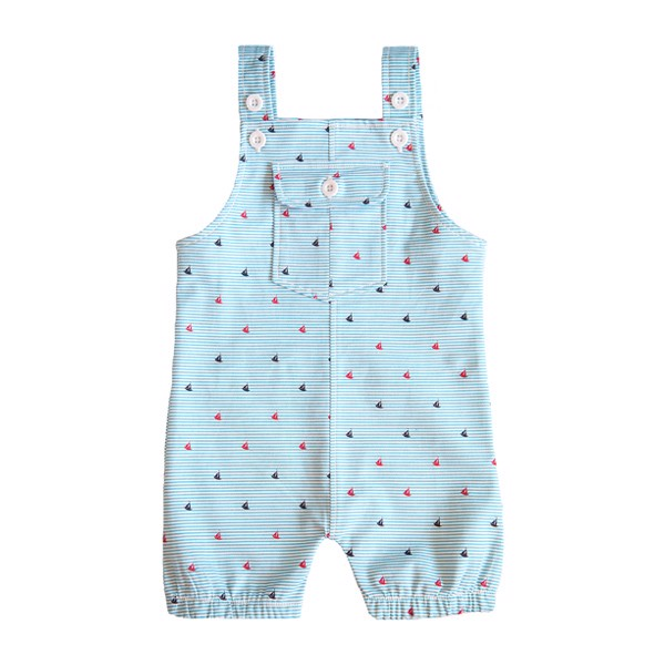 Cotton Jumpsuit with Blue Stripes