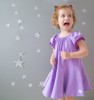 Cotton Dress Zig Zag Fun - Purple