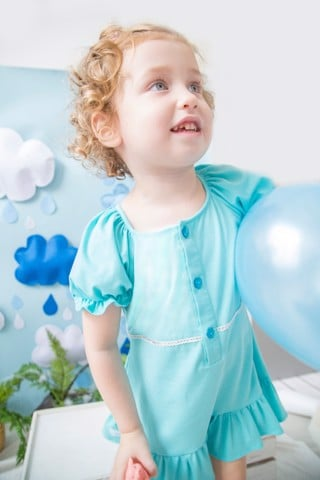 Cotton Dress Elsa Love - Blue