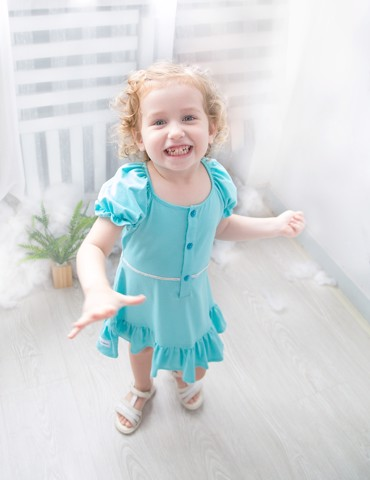 Cotton Dress Elsa Love - Blue/Violet