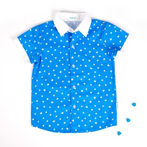 Cotton shirt with patterns