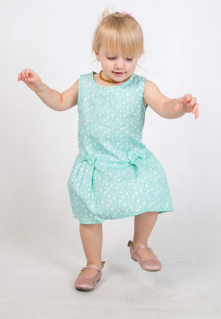 Floral Fun: Cotton dress with bows