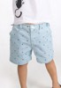 Cotton shorts with blue stripes