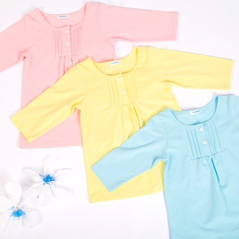 [Extra save] 3 Cotton Long-sleeved tee pack