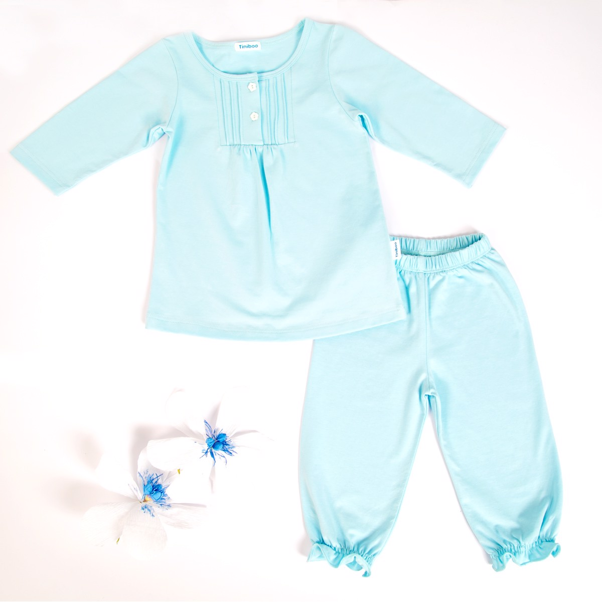 Set Long-sleeved cotton tee with Pants