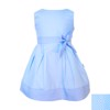 Cotton dress with bow belt