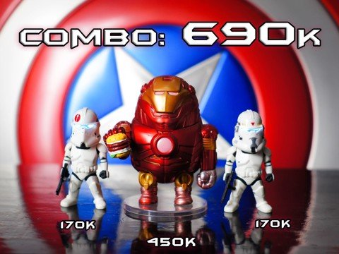 Combo star war + ironman