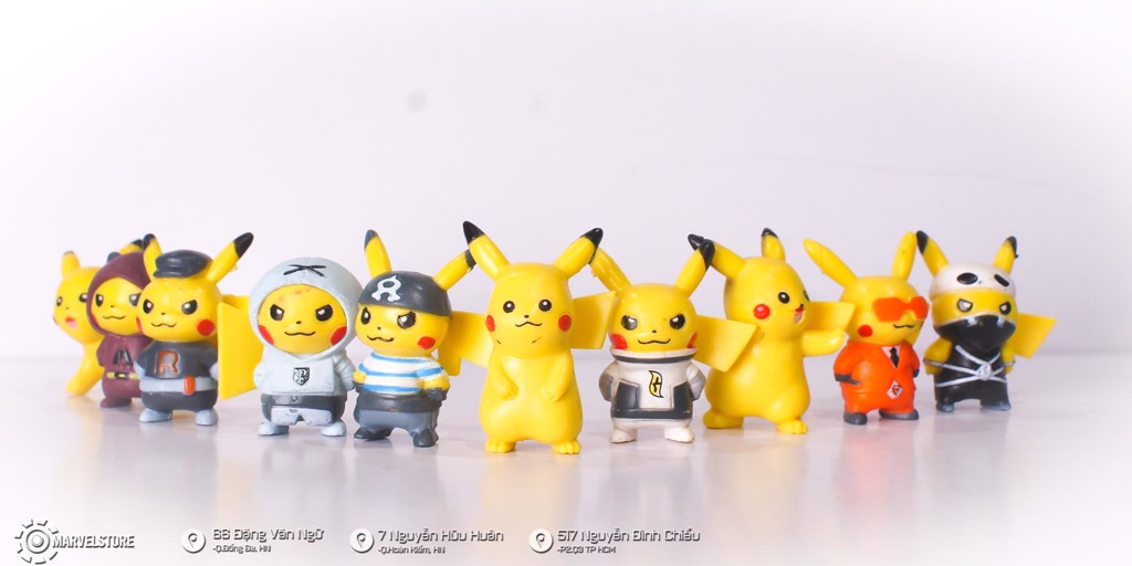Set Pikachu mini