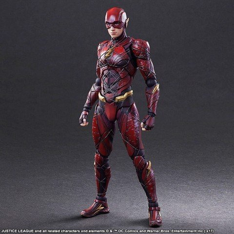 Square enix PLAY ARTS KAI Flash JL(REAL 2hand)