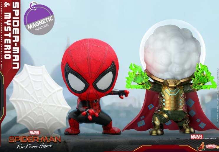 Mô hình Hottoys cosbaby Spiderman far from home hàng real