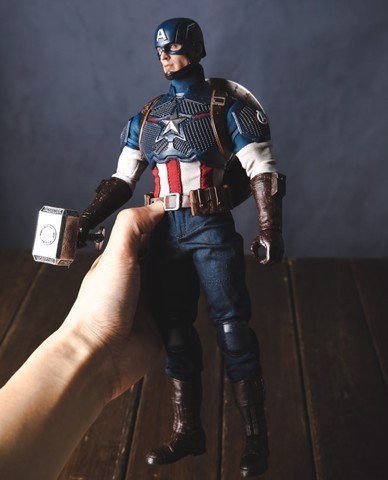 Mô hình Captain America 1/6 bản battle Team of Prototypingm