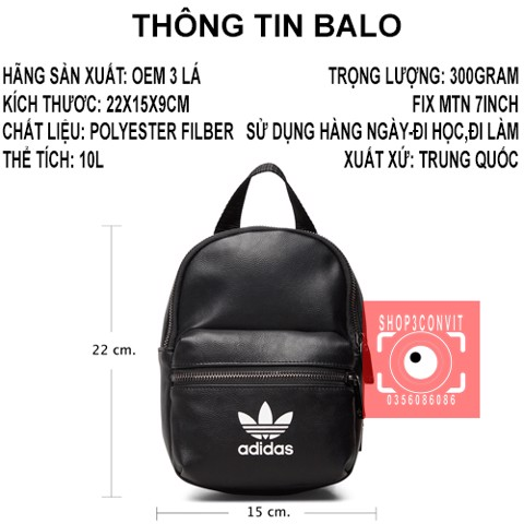 Balo mini thời trang Adidas Lady's originals accessory bag