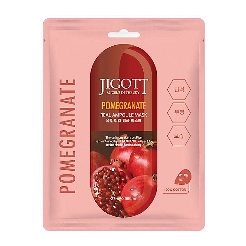 Mặt nạ Jigott Real Ampoule Mask Pomegranate 27ml