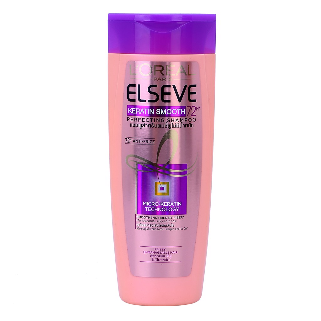 Dầu gội L'oreal Keratin Smooth 72h Perfecting Shampoo 330ml