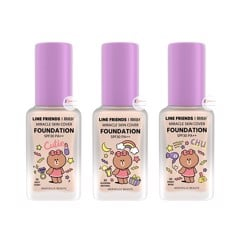 Kem nền Mille Line Friends Miracle Skin Cover Foundation SPF30 / PA ++ 30g