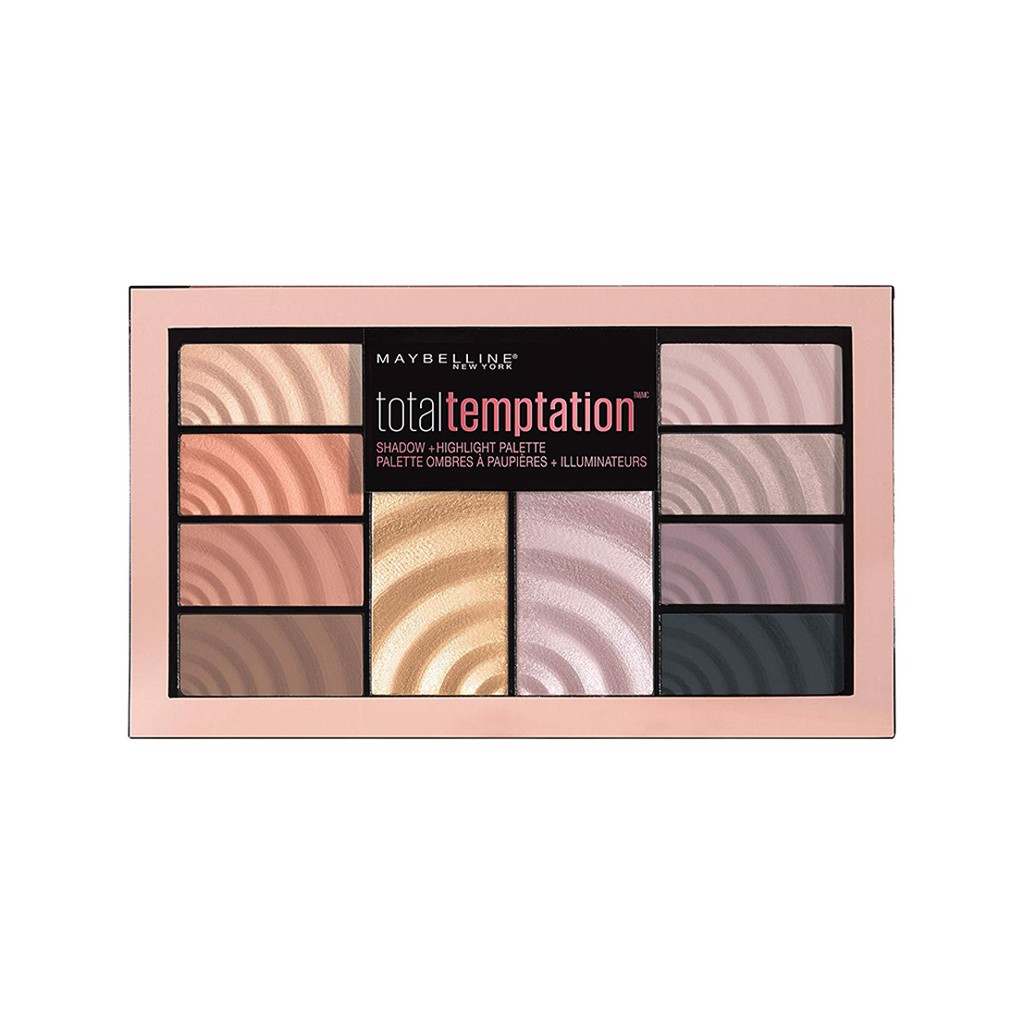 Phấn mắt & bắt sáng Maybelline Total Temptation Eyeshadow + Highlight Palette