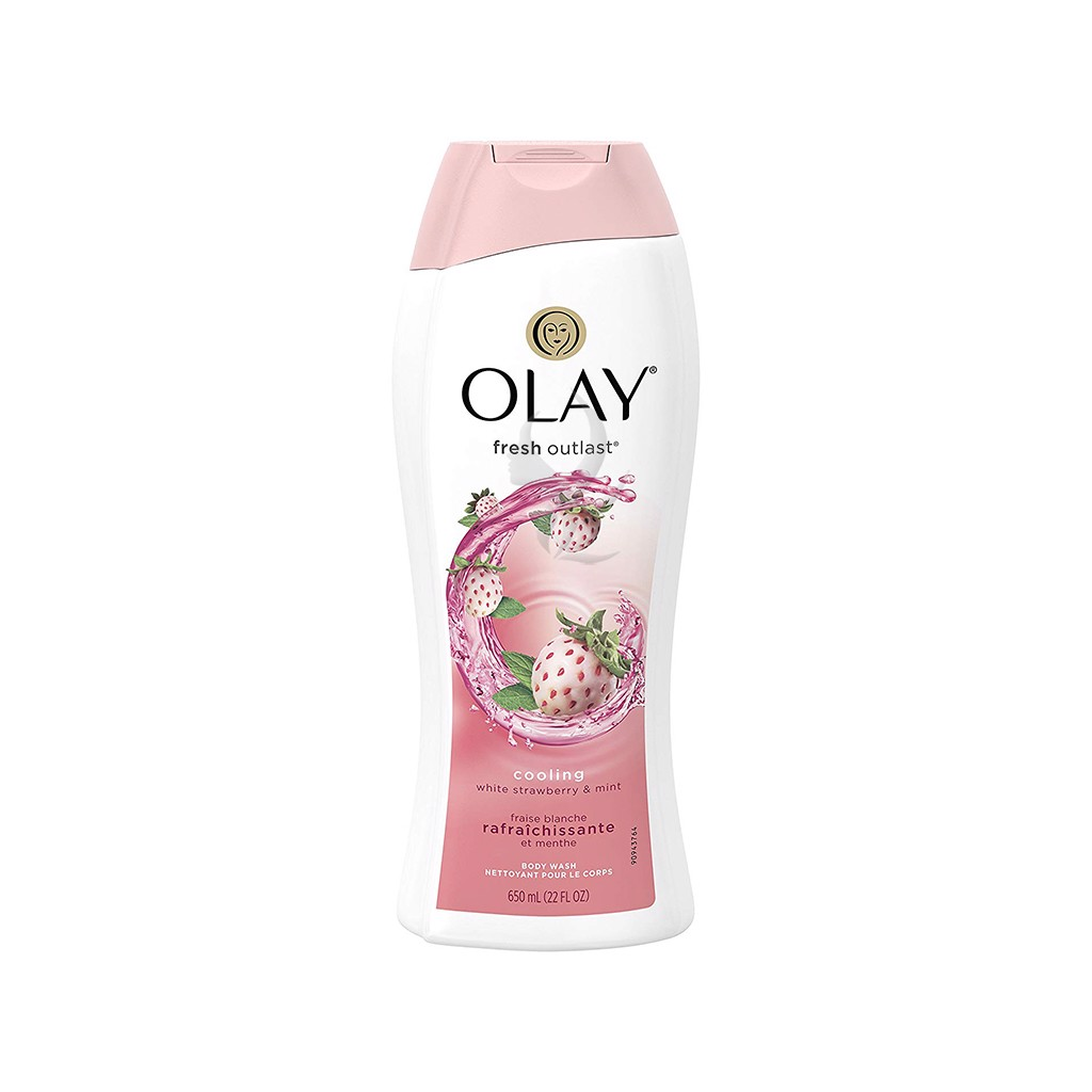Sữa tắm Olay Fresh Outlast Cooling White Strawberry & Mint Body Wash 650ml