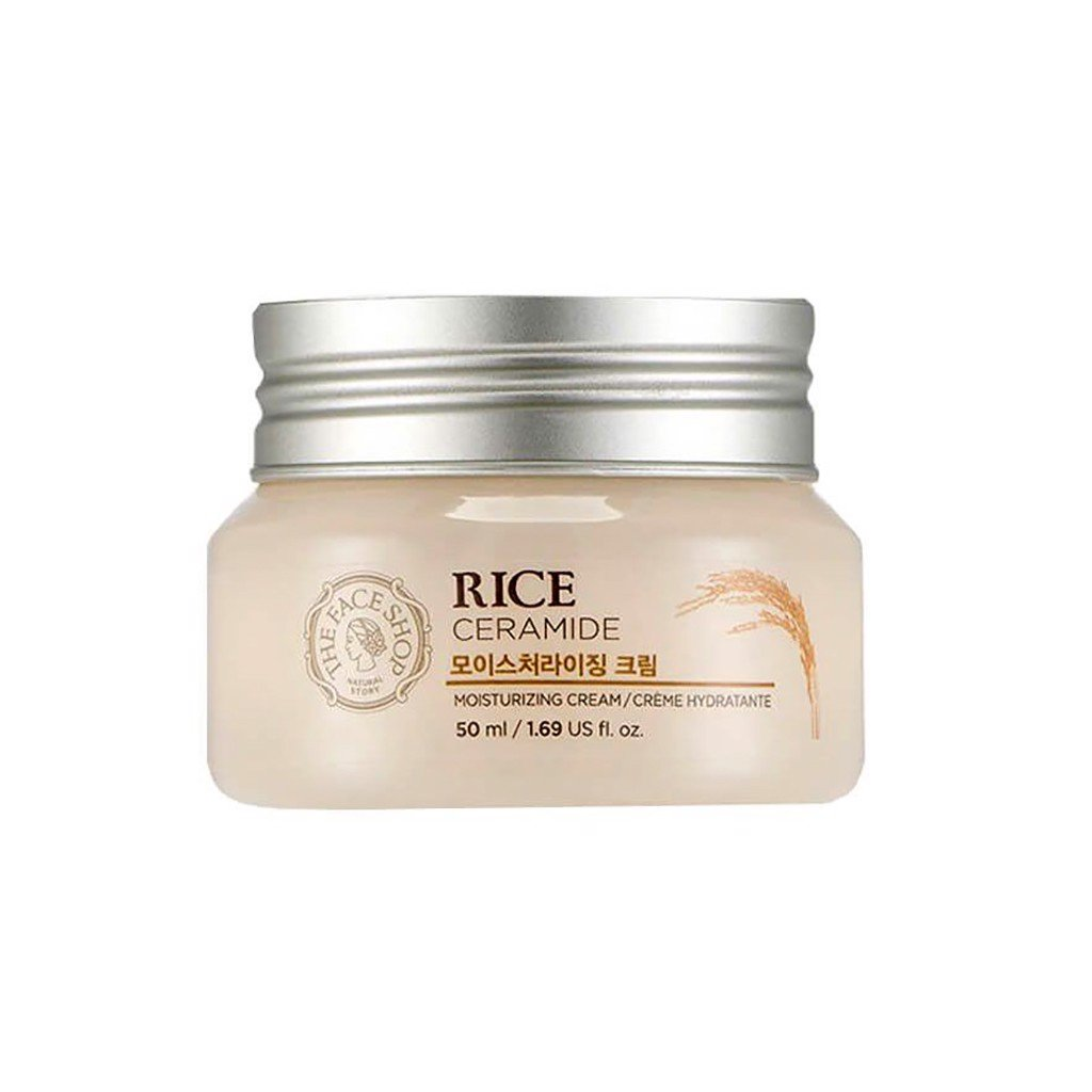 Kem dưỡng ẩm sáng da The Face Shop Rice Ceramide Moisturizing Cream 50ml
