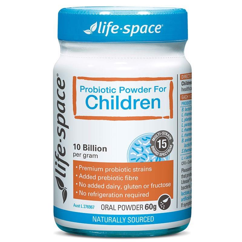 Life Space, Probiotic Powder for Children, Men vi sinh cho trẻ em 3+ tuổi, 60g